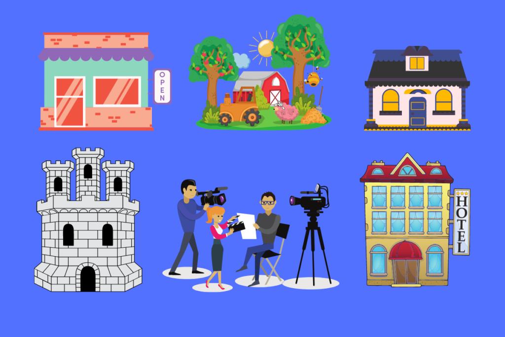 Film Crew and locations
